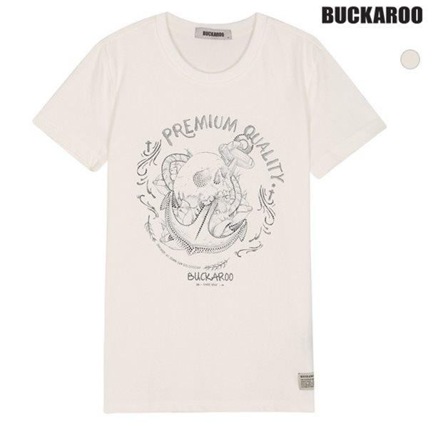 [BUCKAROO]유니 20수 망점 스컬 티셔츠(B182TS120P)