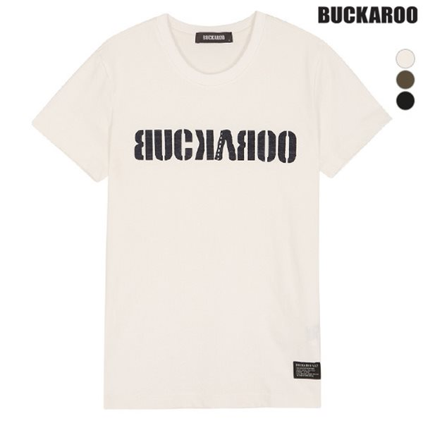 [BUCKAROO] 유니 20수 로고 원터치 R넥 티셔츠(B182Z1050P)