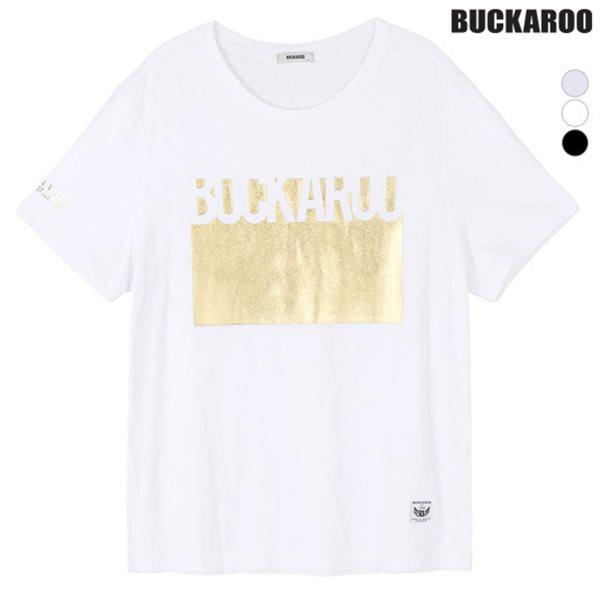 [BUCKAROO]유니 30수 싱글 박스로고 GOLD R넥티(B152TS088P)