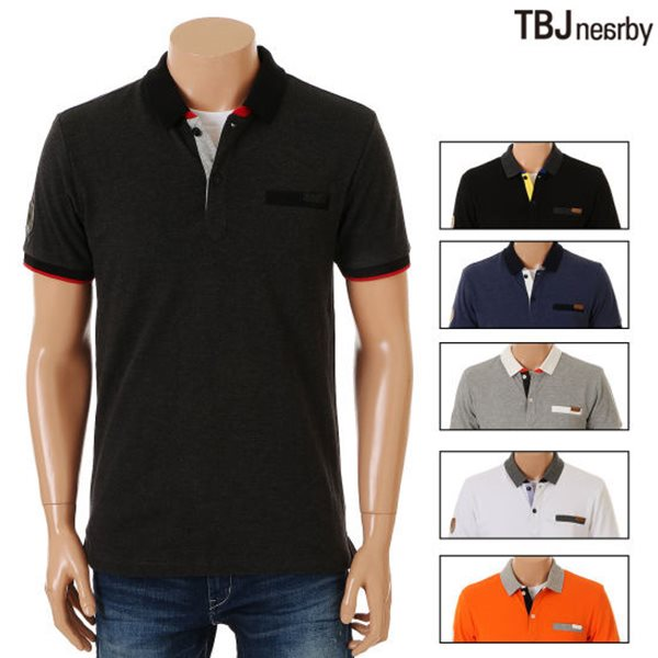 [TBJ]남성 PQ 아시밴드 애리 티셔츠(T152TS230P)