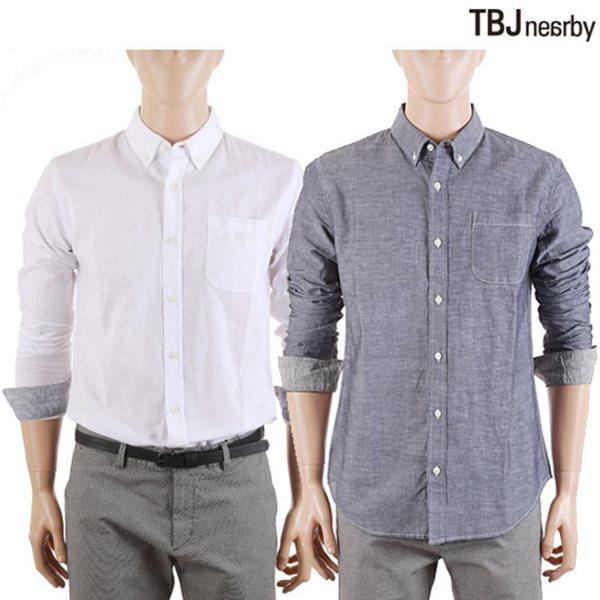 [TBJ]남성 코튼린넨 솔리드 셔츠(T152SH100P)