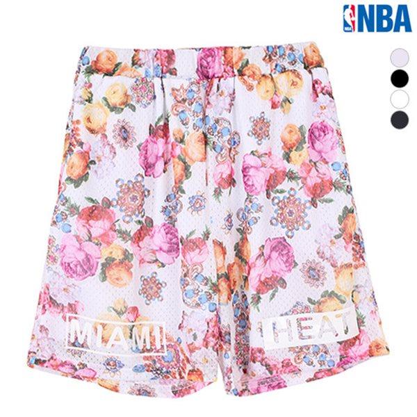 [NBA]MIA HEAT FLOWER패턴 MESH배색 PANTS(N152TP041P)