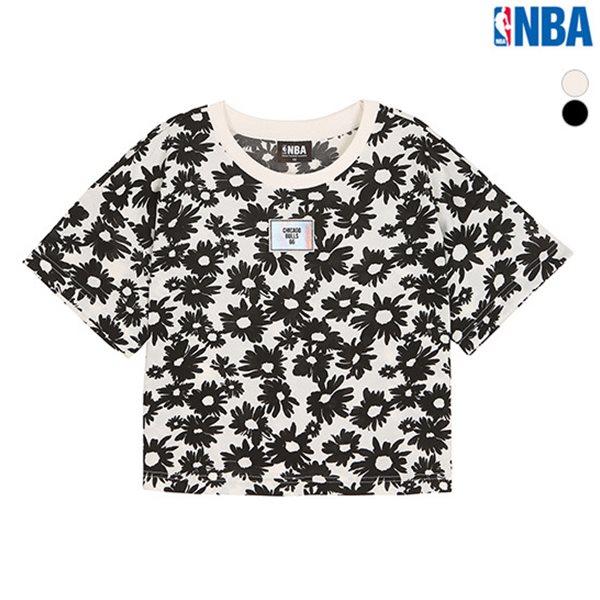 [NBA]CHI BULLS BLACK&WHITE FLOWER 패턴 TS(N152TS724P)