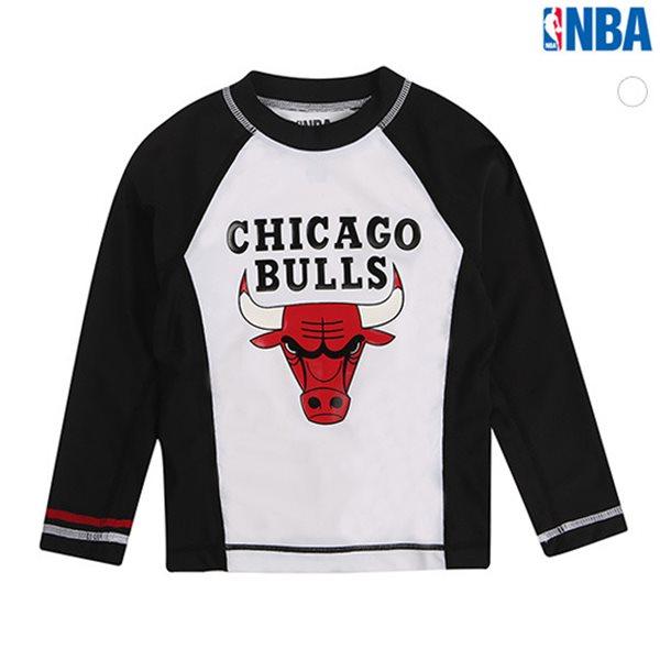 [NBA]KIDS CHI BULLS BASIC LOGO 래쉬가드(N162TS597P)