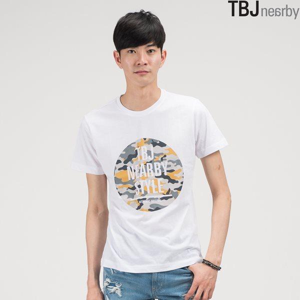 [TBJ]유니 라운드 그래픽 티셔츠(T142TS061P)