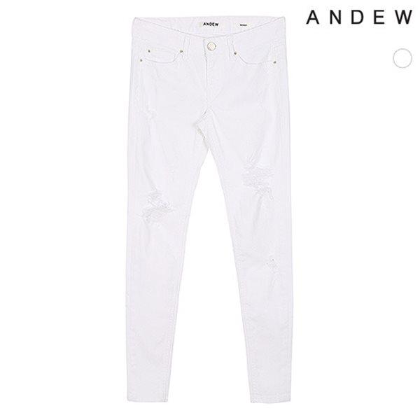 [ANDEW]여성스노우/화이트 구제 스키니(O152DP510M)