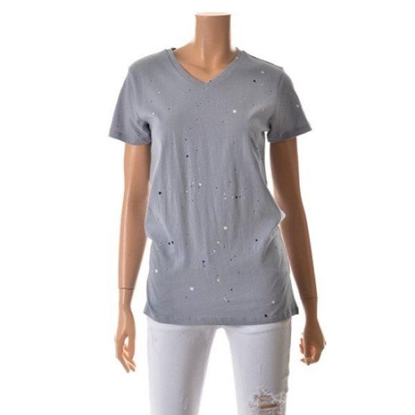 [ANDEW]여성 디스트로이드 V넥 티셔츠(O152TS501P)