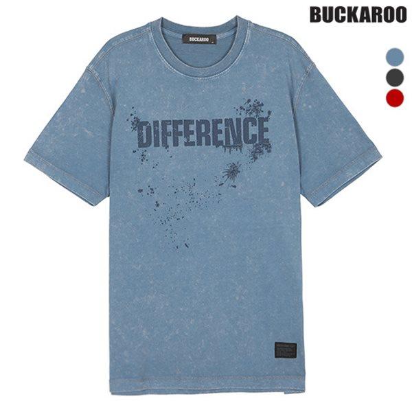 [BUCKAROO]유니 20수 차호화 레터링 R넥 티셔츠(B182TS020P)