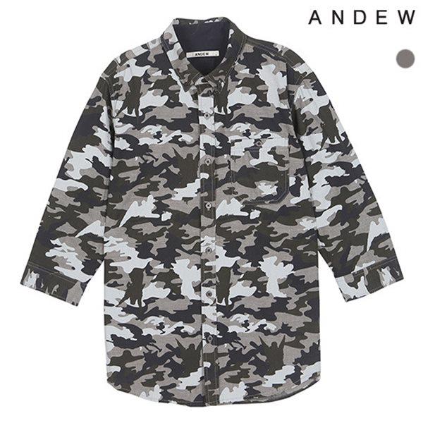 [ANDEW]남성 7부 전판 까모 셔츠(O152SH450P)