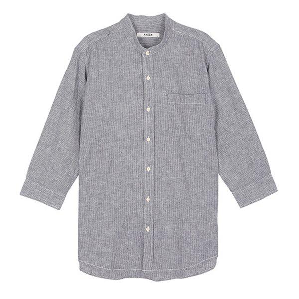 [ANDEW]남성 7부 헨리넥 코튼린넨 셔츠(O152SH410P)