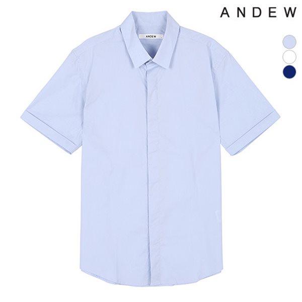 [ANDEW]남성 반팔 면스판 셔츠(O152SH100M)