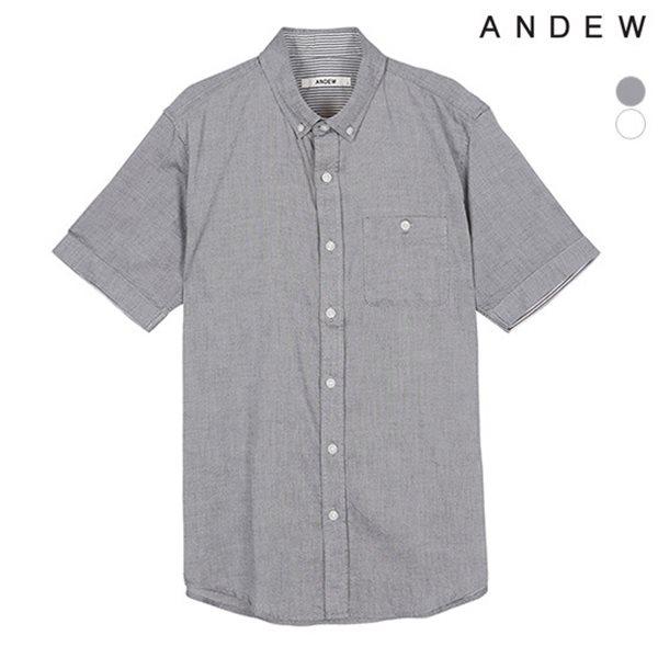 [ANDEW]남성 반팔 옥스포드 셔츠(O152SH110P)