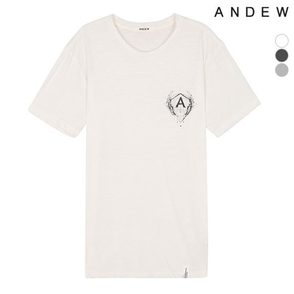 [ANDEW]남성 슬럽 RN 티셔츠(O152TS101P)