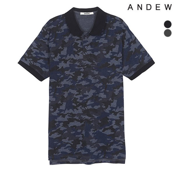 [ANDEW]남성 전판 패턴 카라티셔츠(O152TS306P)