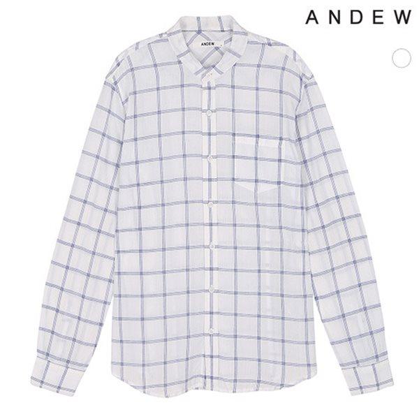 [ANDEW]남성 헨리넥 윈도우체크 셔츠(O152SH120P)