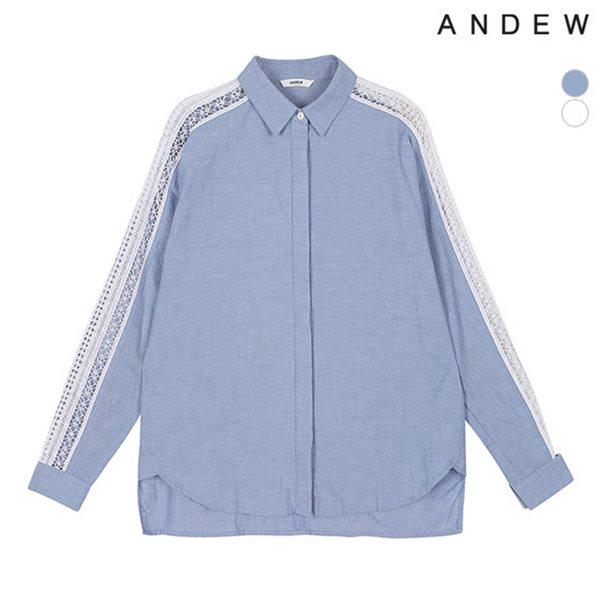 [ANDEW]여성 긴팔 레이스 셔츠(O152SH570M)