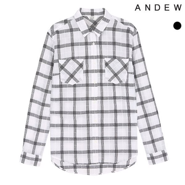 [ANDEW]여성 긴팔 윈도우 체크 셔츠(O152SH520P)