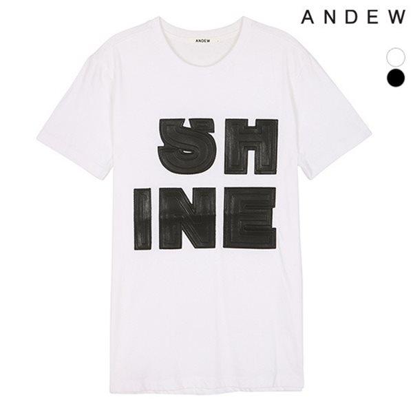 [ANDEW]유니 PU 아플리케 티셔츠(O152TS063P)