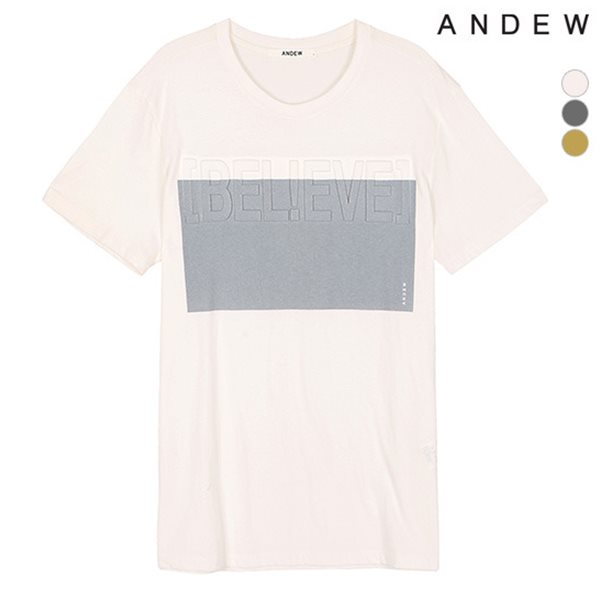 [ANDEW]남성 고주파 박스 티셔츠(O152TS113P)