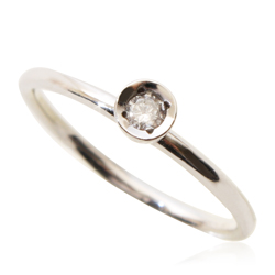 Eco 0.10ct diamond ring