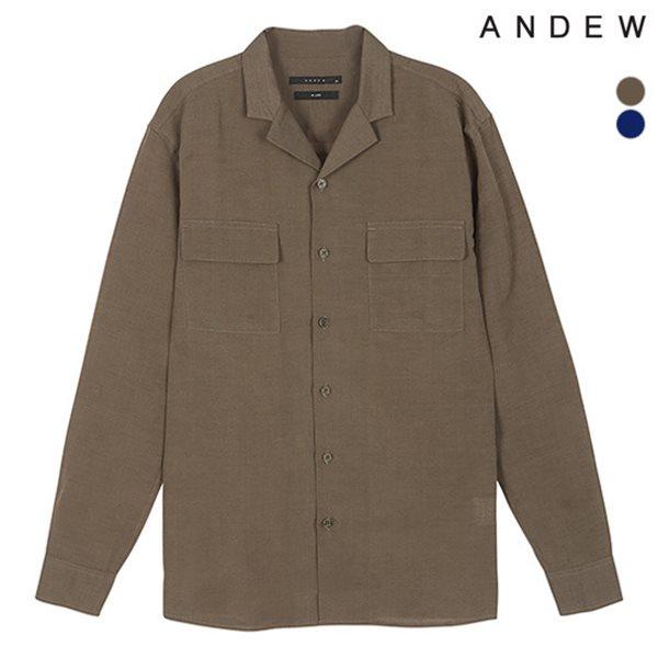 [ANDEW]남성 오픈카라 솔리드셔츠(O182SH200P)