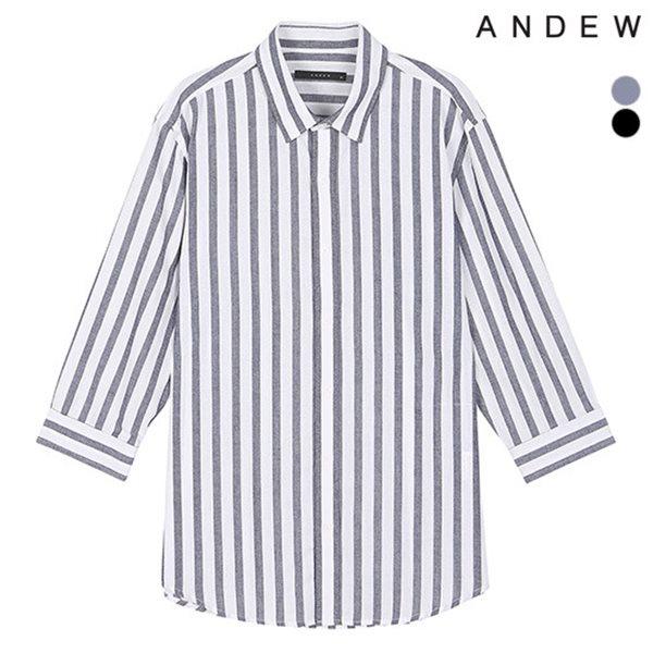 [ANDEW]남성 기본카라 선염스트라이프 7부SH(O182SH250P)