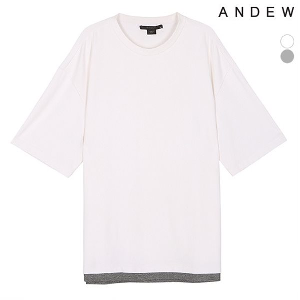 [ANDEW]남성 사이드지퍼 레이어드TS(O182TS105P)