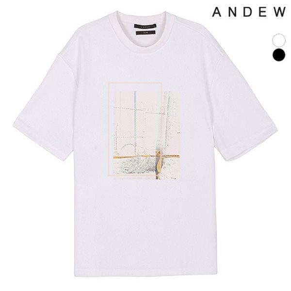 [ANDEW]남성 엠보소재 전사프린트TS(O182TS116P)