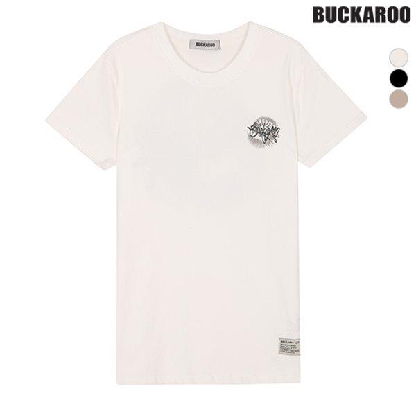 [BUCKAROO]유니 20수 프린트 R넥 티셔츠(B182Z4060P)