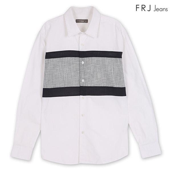 [FRJ] 남성 절개배색셔츠 WH (F81M-SH01ZB)