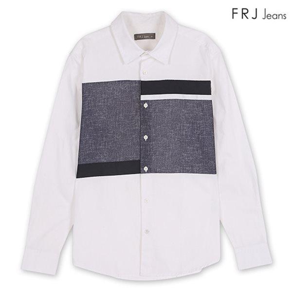 [FRJ] 남성 절개배색변형셔츠 WH (F81M-SH02ZB)