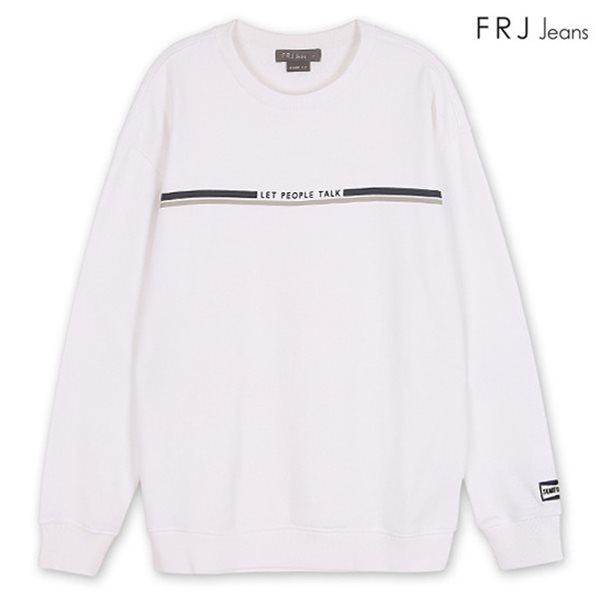 [FRJ] 유니 오버핏라인프린트유니MTM WH (F81U-TS07ZB)