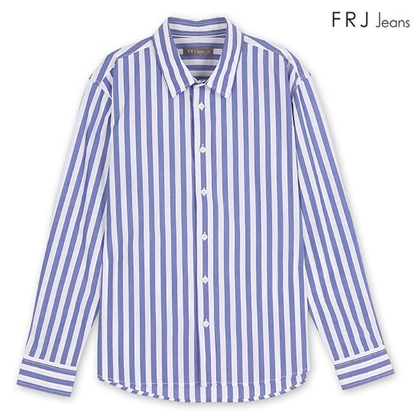 [FRJ] 남성 세로스트라이프셔츠 BL (F85M-SH93ZB)
