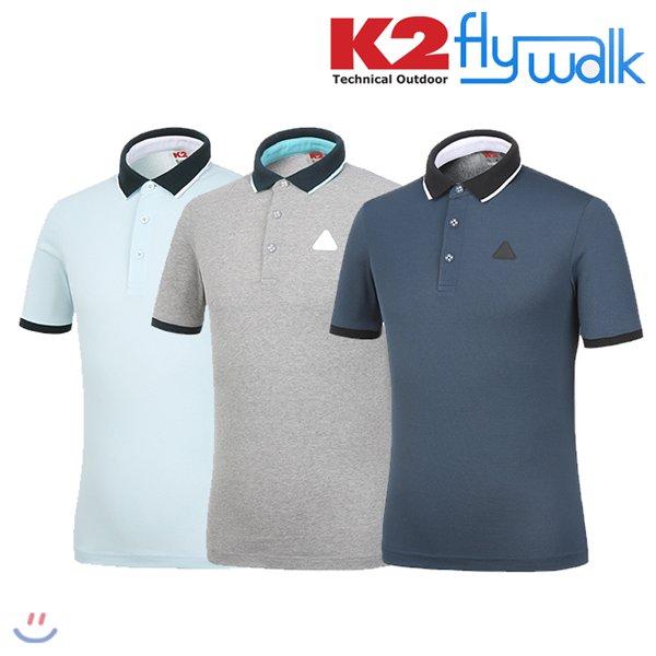 [K2] 남성용 플라이워크 필드센서 반팔 폴로_KMM16277