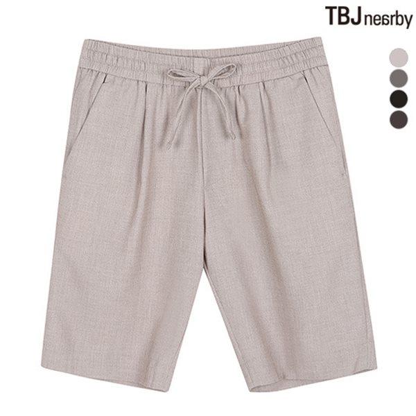 [TBJ]남성 5부 TR 솔리드 올밴딩 슬랙스 팬츠(T182PT540P)