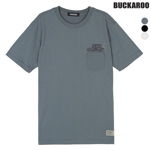 [BUCKAROO]유니 20수 자수장식 포켓 티셔츠(B182TS080P)