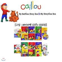  Caillou My Bedtime Story Box + My Storytime Box  (Paperback 12 + CD 2)