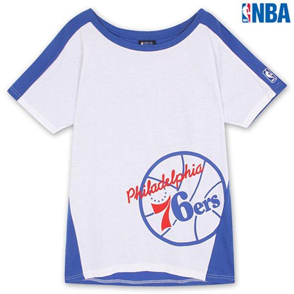 [NBA]PHI WOMAN 앞등판 배색 어깨드롭 박시티(N132TS712P)