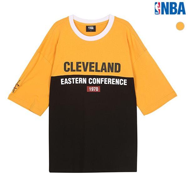 [NBA]CLE CLEVELAND 립배색 절개 오버핏 티셔츠(N182TS316P)