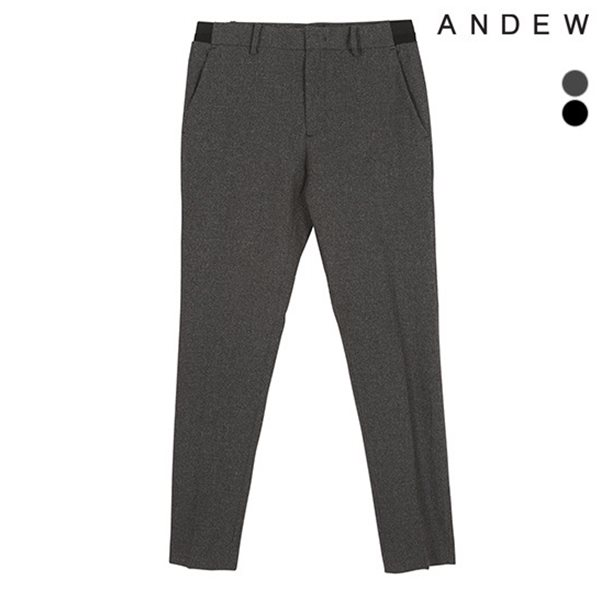 [ANDEW]남성 테이퍼드 TR 잔체크 사이드밴딩 바지(O182PT210P)