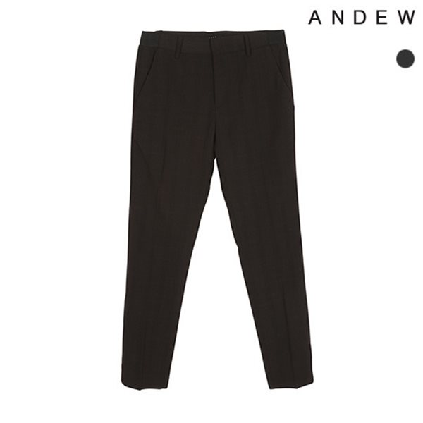 [ANDEW]남성 테이퍼드 TRW 그레이 체크 바지(O182PT330P)