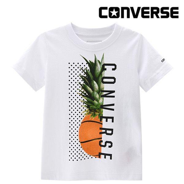 [컨버스키즈] 하프코트 티셔츠(반팔)L ENM11QTS01 (키즈)