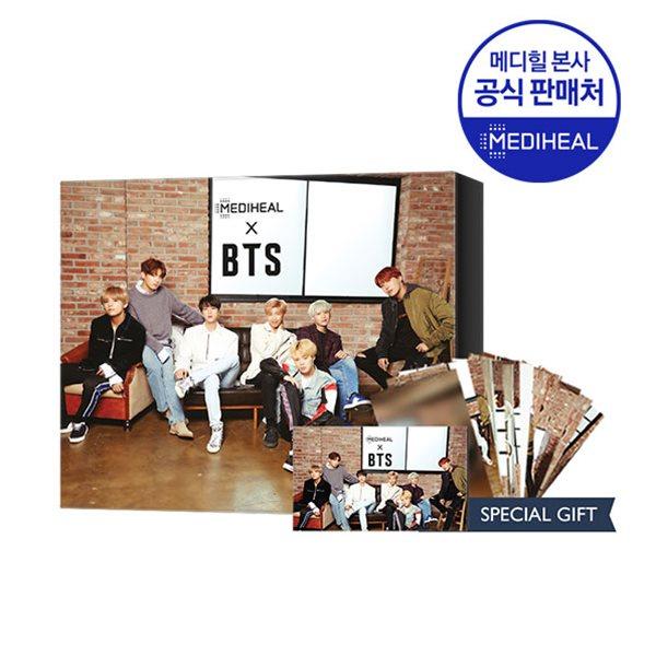 메디힐 X BTS 브라이트닝케어 스페셜 세트 (WHP5매+티트리5매+포토카드)