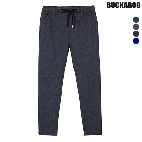 [BUCKAROO]유니 C/P/R/SPAN 밴딩 배기팬츠(B182PT475P)