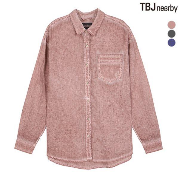 [BUCKAROO]유니 코튼린넨 더티다잉 셔츠(B182SH100P)
