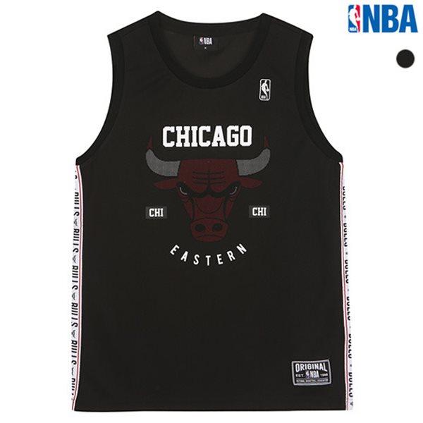 [NBA]CHI BULLS 테이프배색 슬리브리스 티셔츠(N182TS451P)
