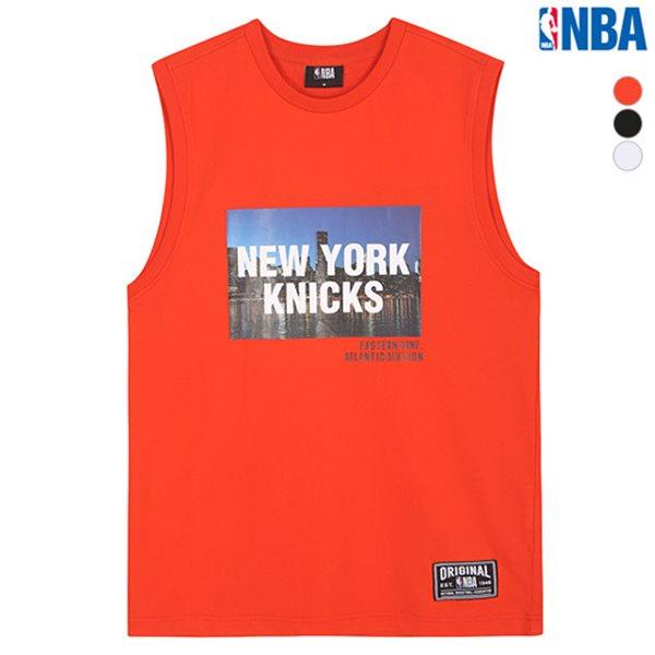 [NBA]NYK KNICKS 실사 오버핏 슬리브리스 티셔츠(N182TS456P)