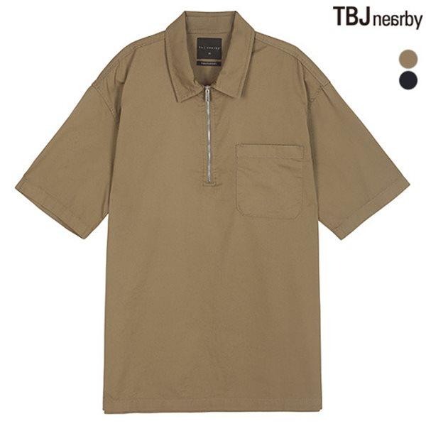 [TBJ]남성 5부 박스핏 아노락지퍼 셔츠(T182SH340P)
