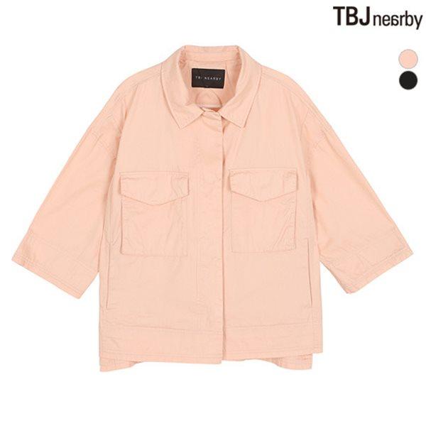 [TBJ]여성 7부 셔츠형 자켓(182JP610P)