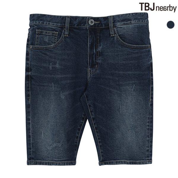 [TBJ]유니 5부 D톤 데님 반바지(T182DP150P)